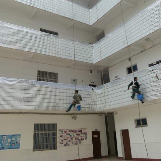 宜昌体育学校外墙清洗